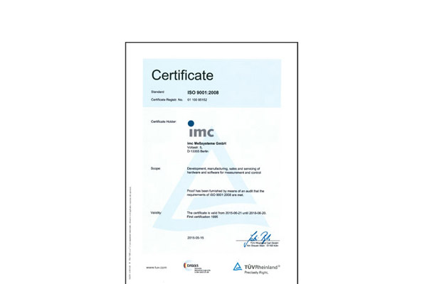quality assurance imc iso9001