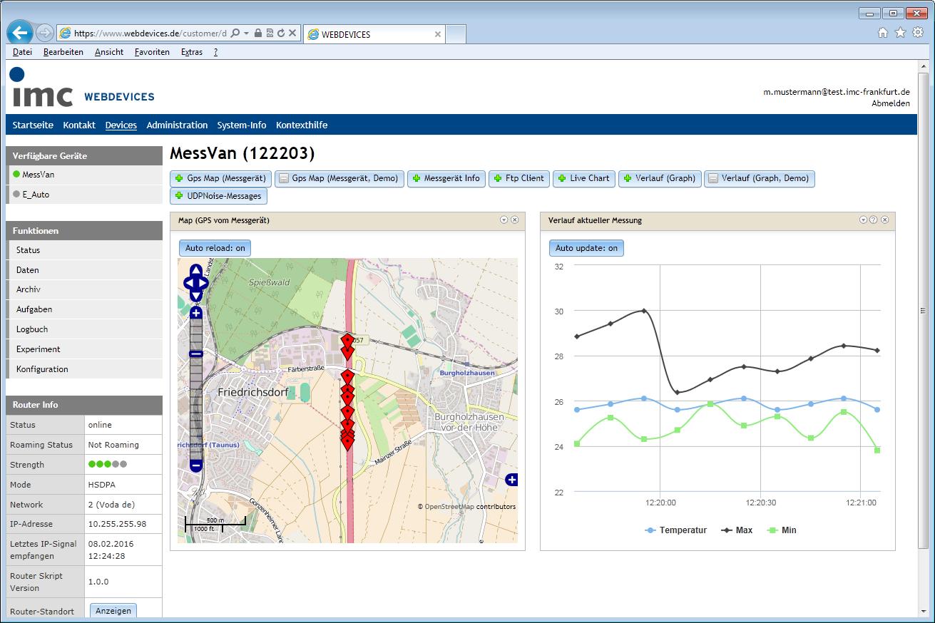 imc WEBDEVICES - Cloud-Lösung für Messtechnik - produktiv messen